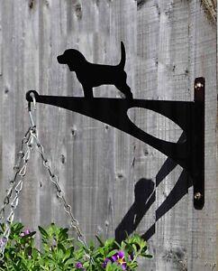 Pet Beagle Hound Dog Stylish Modern Hanging Basket Bracket