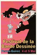 LOISEL. Carte Postale du 3° Festival BD de Perros-Guirec 1996. Dessin inédit.