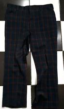 Vintage 70'S Haggar Plaid Polyester Golf Pants Mens W 36 X 30 L