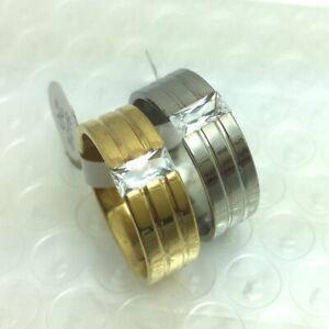 20pcs princess Zircon Rings 316L Stainless steel Ring Wedding Engagement