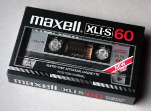 Maxell XLI-S 60 'new' of 1984. Neu, OVP. Impossible to find.