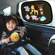 2pcs Animal Car Side Window Sun Shade Visor UV Protector Shield For Baby Kids AU