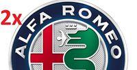 2pcs 74mm Alfa Romeo Front Back Hood Trunk Stickers Badges Emblems GTV 166 147