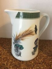 """Ferrieres Plumes Feathers Philippe Deshoulieres France Water Beverage PITCHER 7"""""""