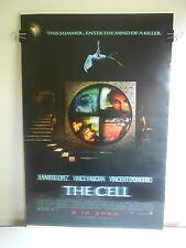 The Cell (2000) Original 2 Sided Advance Movie Poster Jennifer Lopez JLo 27x40