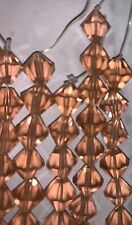 10mm Peach Colored Bicone Glass faceted beads