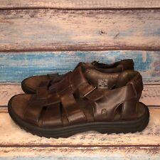 TEVA 6532 Camden Brown Leather Fisherman Open Toe Sport Sandal Mens Size 13