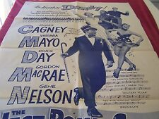 """Warner Bros 1957 Re-release movie poster """" WEST POINT """" Cagney,D. Day. G. Nelson"""