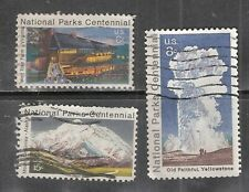 NATIONAL PARKS CENTENNIAL #1452-1454 Used US 1972 Commemorative Stamp Set