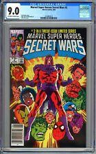 MARVEL SUPER HEROES SECRET WARS #2 - CGC 9.0 - WP - NEWSSTAND VARIANT