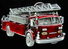 RED FIRE ENGINE BELT BUCKLE BUCKLES