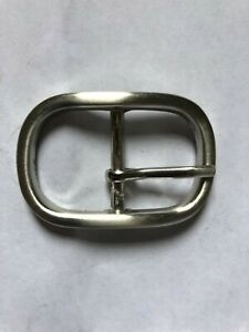 """small Oval Belt Buckle for 1"""" Belt - silver - 5 x 3.4cm"""