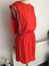 H&M Red Dress with Stud Detail Eur Size 36/ UK S