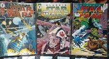 CLASSIC STAR WARS #9, 16, 18. DARK HORSE COMICS.