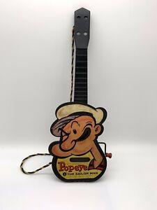 Antique Vintage Mattel Popeye The Sailor Man Guitar Mattel 1950s Toy Lot