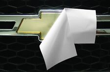 Chevy Vinyl Sheet x2 FITS Chevy Bowtie Emblem Logo Matte White Decals U-CUT Trim