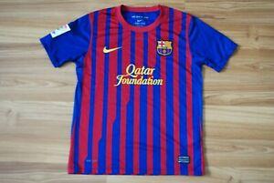 KIDS BOYS 10-12 YEARS BARCELONA FC 2011/2012 HOME FOOTBALL SHIRT JERSEY CAMISETA
