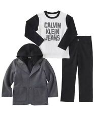 New Calvin Klein Boys 3-piece Set Black and Gray Size:6