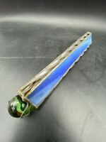 Vintage Handmade Stained Glass Kaleidoscope with Glass Marble