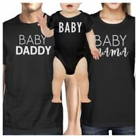 Baby Daddy Mens Black Graphic T-Shirt Matching Outfits For Family