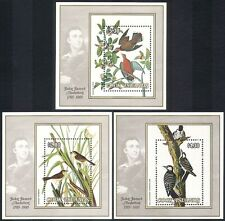 Cook Islands 1985 Audubon/Dove/Woodpecker/Birds/Nature/Art  3 x 1v m/s (n39976)