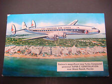 Post Card,Vintage Eastern Air Lines Turbo Compound Super-C constellation Miami