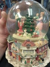 Christmas Eve Tree Decorating Family Children Wrapping Gifts Snow Globe Here.
