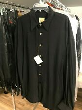 NEW STUBBS Western Cowboy Shirt BLACK Made of Tencel Size XXL 2XL