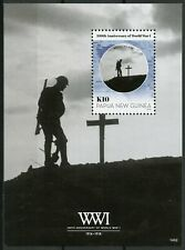 Papua New Guinea PNG 2014 MNH WWI WW1 World War I 1v S/S Military Stamps