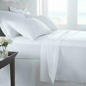 600 Thread Count Deep (30 CM) Box Bed Fitted Sheets 100% Egyptian Cotton