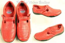 DR SCHOLL'S Red Leather Mary Jane Athletic Sport Comfort Cushion Shoes 6.5 M