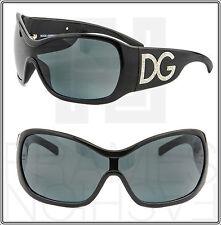 Dolce & Gabbana Shiny Black Crystal Jewel Square Visor Sunglasses DG 6034B 6034