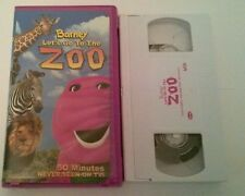 VHS Video Tape Barney's Lets Go to the ZOO  TESTED