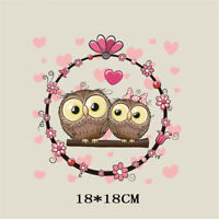 love owl heat transfer  iron on patches for clothes diy clothing decor printi Z5