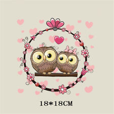 love owl heat transfer iron on patches for clothes diy clothing decor print JT