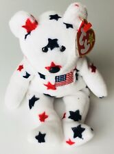 Glory Bear Ty Beanie Baby Collection Retired Tag Date ERROR DOB July 4, 1997