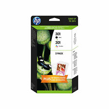 CARTUCCE ORIGINALI HP 301+301+CARTA FOTO PER HP DeskJet 2050a 1050a 2542 3050se