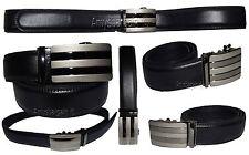 "Men's Belt, Leather Dress Belt, Auto Lock belt, 46-50"" Quick lock belt Brand New"