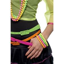 Smiffys 80s Neon Multicoloured Bracelet Set