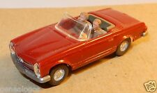 rare MICRO WIKING HO 1/87 MERCEDES BENZ 230 SL CABRIOLET 1965 rouge grenat 14b