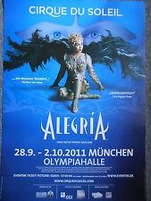Cirque du Soleil Alegria 2011 -- Orig. Concert Poster-concert affiche a1 NEUF