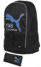 Puma Pioneer Backpack Black Cat Logo Zipped Pockets Adjustable Straps Backpack