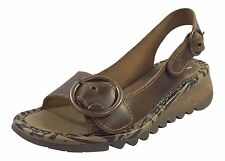 Fly London Tram723fly Wedge Camel Womens Sandals 41 EU