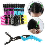6x Hair Salon Clamps Tool Crocodile Styling Claw Sectioning Clips Hairdressing