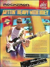 Gary Hoey 2002 GHS Guitar Strings Rocktron Preamps advertisement 8 x 11 ad print