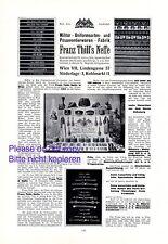 K.u.K. PASSEMENTERIE usine THILL Vienne XL 1914 Publicité Autriche Publicité +