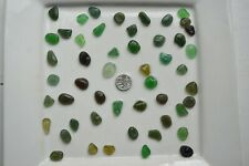 English Sea Glass from Cornwall  ...... 50 Medium GREEN coloured pieces