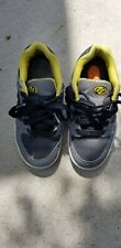 Heely's Rolling Roller Skate Shoes Us Youth 2 Black Yellow Grey 7603