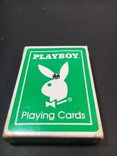 Vintage Playboy Playing Cards Green Deck US Playing Card Co Rare