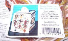 DREAMCATCHER EARTH TONES Tissue Box Cover Plastic Canvas Kit  w/Beads